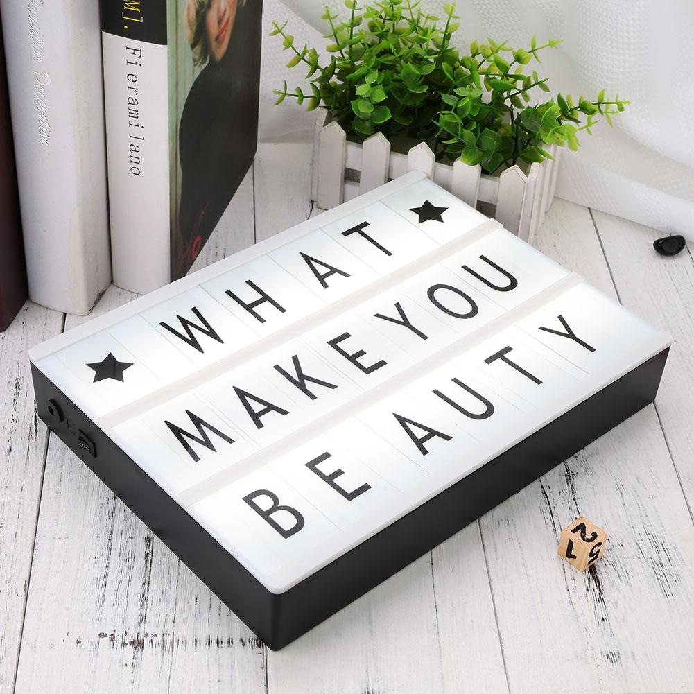 2019 DIY LED letter Light Box Large Size letters lightbox
