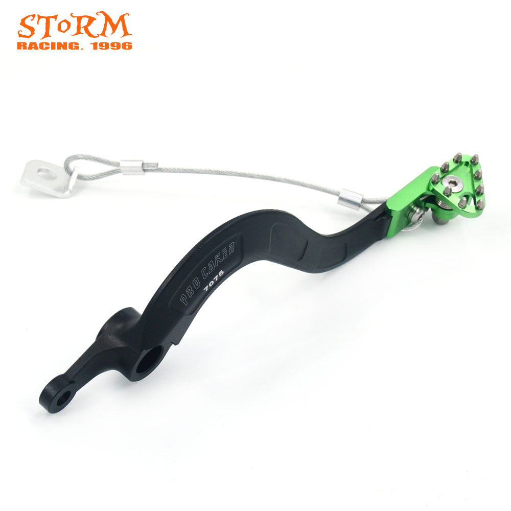 Billet Rear MX Rear Foot Brake Lever Pedal Aluminum For KAWASAKI KXF250 KX250F KX 250F 04 05 06 07 08 09 10 11 12 13 2004-2013