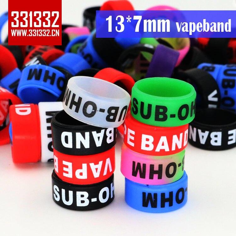 Authentic 331332 13*7mm Silicone Vape Band Silicone ring Ecig Band Ec Vape Band Rings for ego ce4 vivi nova subvod c kit