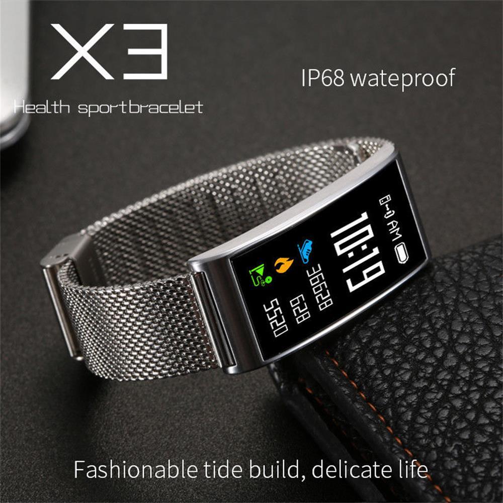 Timethinker X3 Smart Watch Bracelet Men Women X3 Smartwatch Bluetooth Blood Pressure Heart Rate Monitor IP68