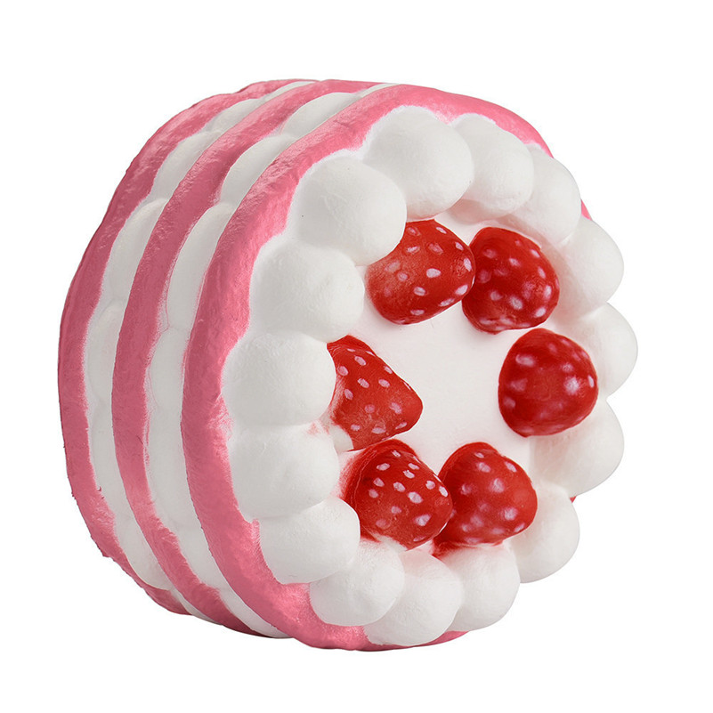 Cute Mini Strawberry Cake Stress Reliever Squishy Slow Rising Cream Scented Decompression Cure Toy Squish Toys For Kid Child A1