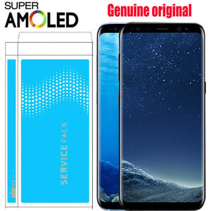 SAMSUNG S8 LCD Frame Digitizer G950f Display Touch-Screen G955F Super-Amoled Plus 100%Original