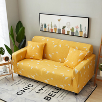 Yellow Corner Sofa Slipcovers For Living Room Home Decor Sofa Tight Wrap All Inclusive Slip Resistant