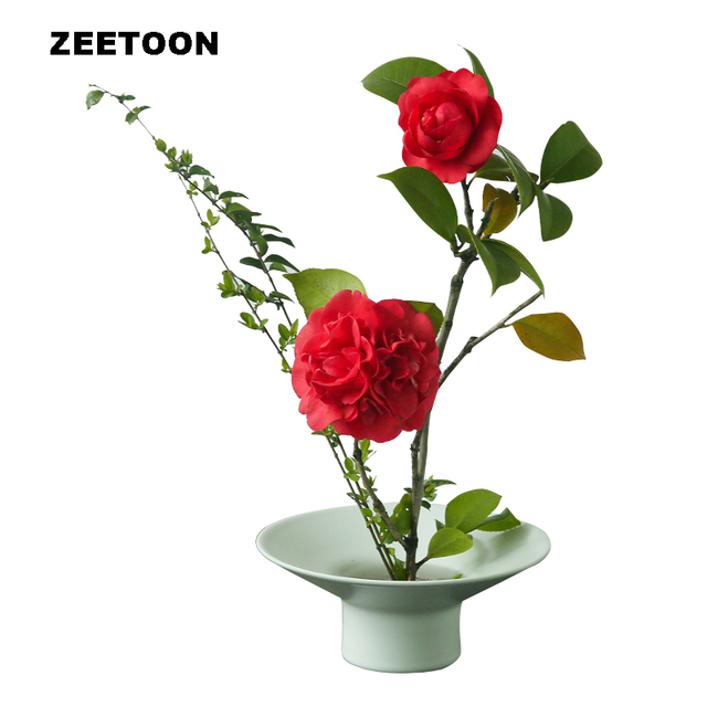 Lovely Zen Japanese Flower Pot Vase Ceramic Coarse Pottery Tea Room Kung  RX46
