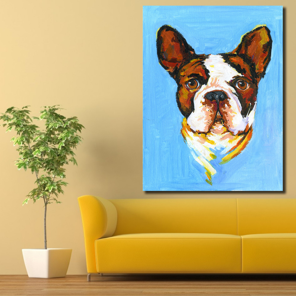 AAGG Wall Art Dog painting Canvas Prints Picture Office Decoration ...