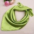 Unisex Satin Solid Plain Color Mini Scarf Men Women Square Neckerchief Small Wrap 60cm 038-434 D