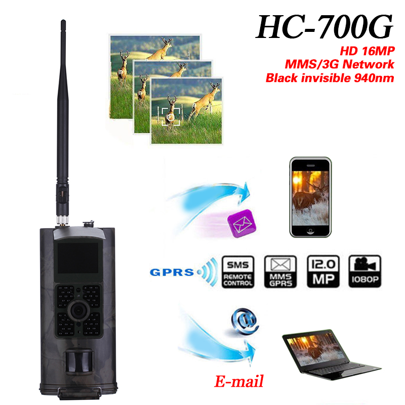 2017 suntek wholesaler HC700G 16MP Trail Hunting Camera 3G GPRS MMS SMTP SMS 1080P Night Vision 940nm Scouting Cameras Trap hc 550m gsm gprs sms mms security hunting trail camera hc550m 16mp with 940nm black invisible vision hc 550m