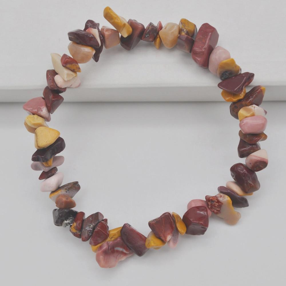 Liberal Lucky Chip Beads Mookaite Stone Stretch Bracelet 8 Inch Jewelry For Gift G680 Bracelets & Bangles Strand Bracelets
