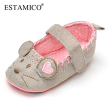 Fashion Baby Girls Shoes Infant Boys Sneakers Toddler Anti-slip Rubber Sole Cute Animal Indoor and Outdoor First Walkers Shoes(China)