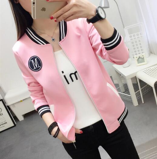 Carol Diaries Women Baseball   Jacket   Preppy College   Jackets   Plus size M-5XL Bomber   Jacket   2018 Spring Autumn Coats   Basic   Outwear