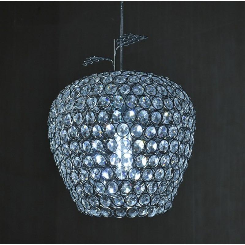 Современный хромированный блеск Apple, моделирующий светодиодный хрустальный светильник, хрустальная люстра, лампа E27/26, люстра, светильник, подвесной потолочный светильник