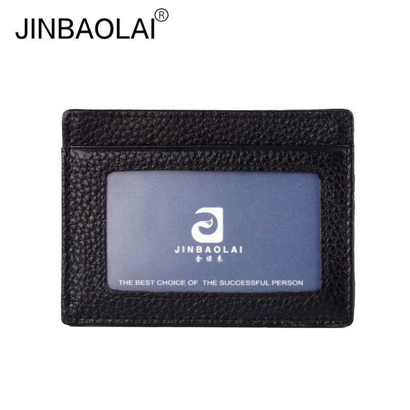 Genuine Leather Credit Card Holder Unisex Men Women Business Card Coin Wallet Women Card ...