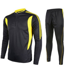 2016 New Men Sport Soccer Jerseys Training Football Running Tracksuits Suit Futbol Sweatshirt soccer set Long sleeve