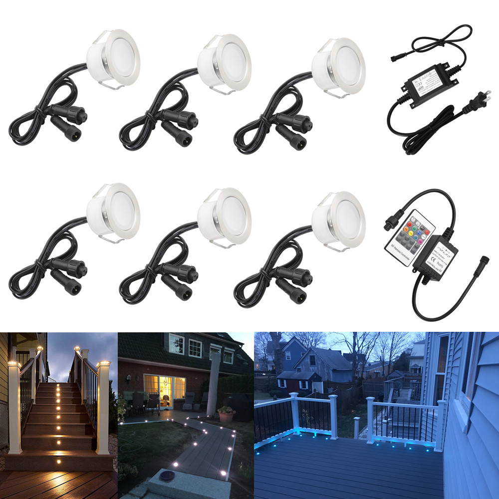 Search For Flights 6pcs/lot 45mm Outdoor Landscape Terrace Stair Pathway Kickboard Recessed 12v Kitchen Cabinet Led Deck Rail Step Soffit Lights Led Lamps Led Underground Lamps