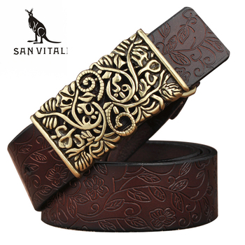 New Designer Women's Belts Fashion Genuine Leather Brand Straps Needle BuckLE Female Waistband Buckles Fancy Vintage for Jeans