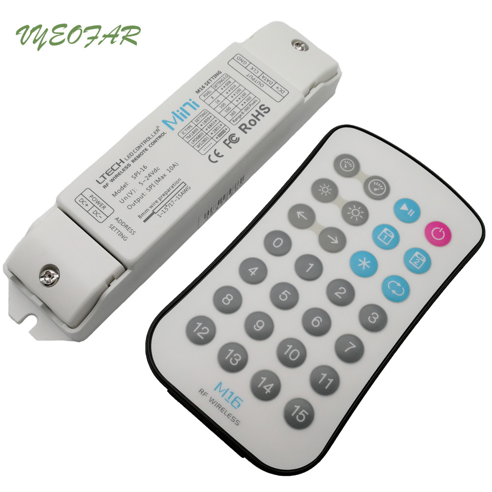 LTECH SPI-16+M16 LED SPI controller Dream Magic Pixel Controller RF Remote ws2812/2811/2801,TLS3001,LPD6803,9813 Driving IC цена