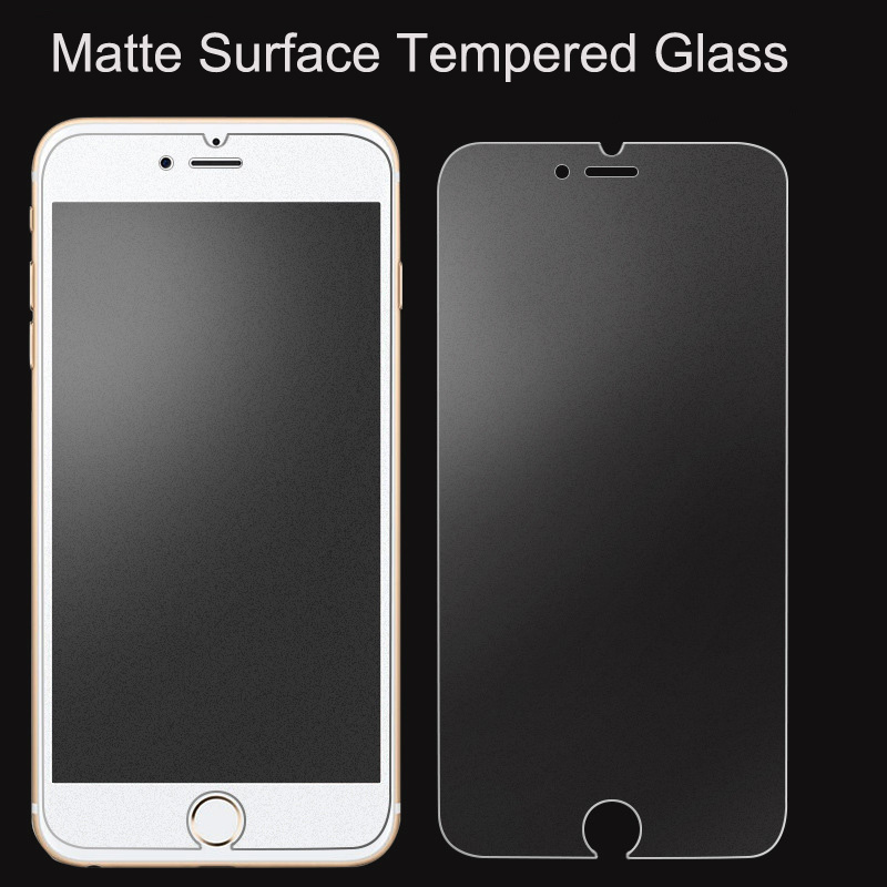 Anti-Fingerprint 9H Tempered Glass Film for iphone 6 6s plus matte tempered glass screen protector for iphone 5 5s se image