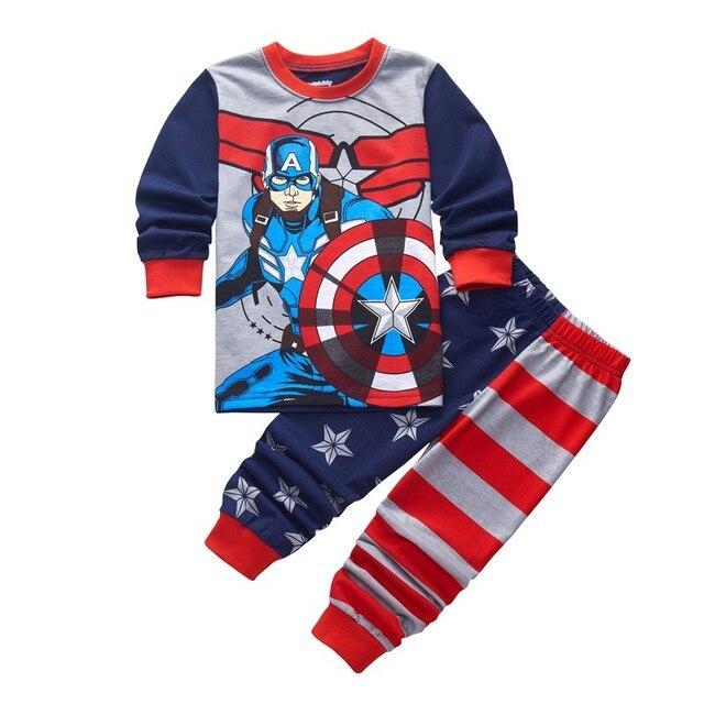 b2d118996b Baby Sleepwear Kids Pajamas Sets 100% Cotton Toddler Boys Girls Pyjamas  Long Sleeve Tshirt +