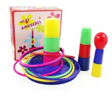 Toys Piling Ring game Colorful happy set of circle game Early Development Interactive Educational Parent child interaction