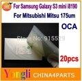 20 шт. для Samsung galaxy s3 MINI i8190 ОСА оптический ясно клей двухсторонняя наклейка ОСА клей для жк-стекла ремонт 250um