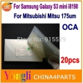 20pcs for Samsung galaxy s3 MINI i8190 OCA optical clear adhesive double side sticker OCA glue for lcd glass repair 250um