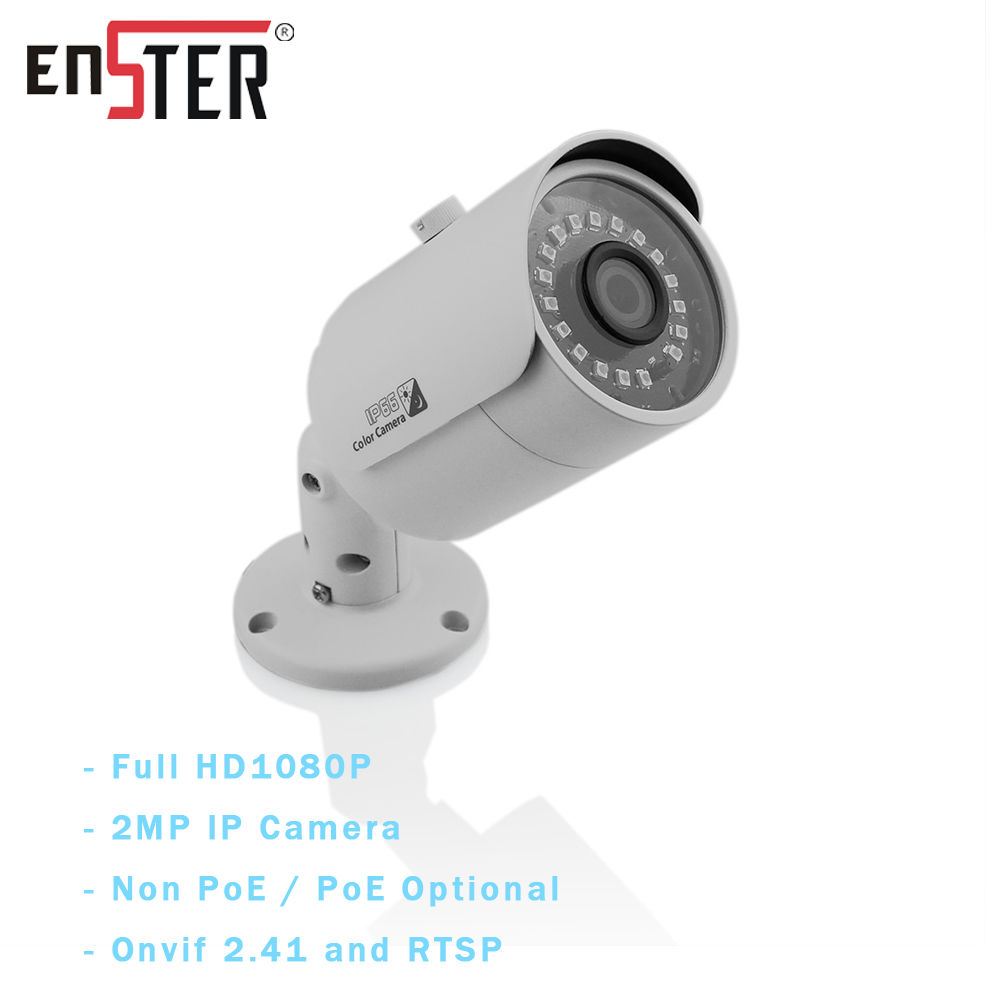 ENSTER-caméra IP Onvif HD 1080P | Résistance aux intempéries IP66, prend en charge, détection de mouvement, alarme d'email avec Photo instantané, en option