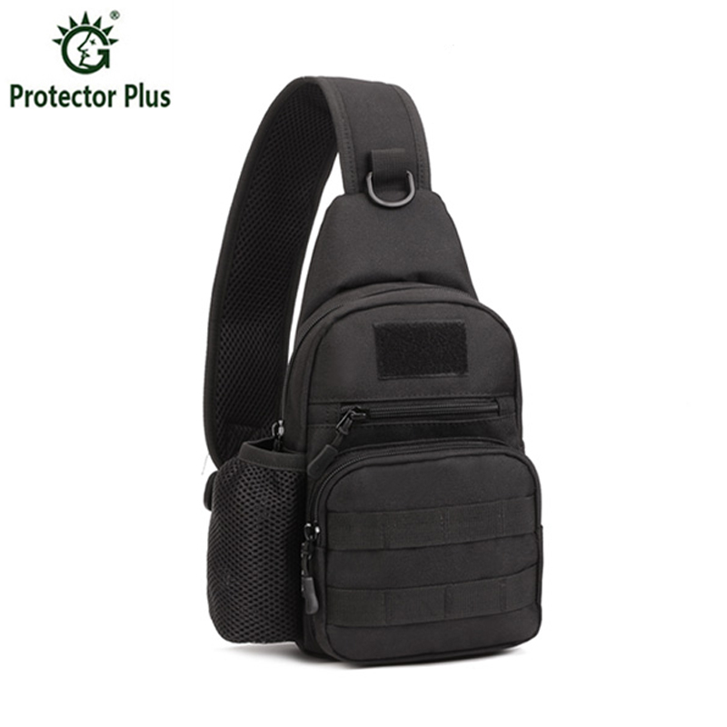 ФОТО Men Waterproof Oxford Shoulder Messenger Crossbody Bag Military Tactics Outdoors Chest Pack With Bottle Bag Male Back Pack