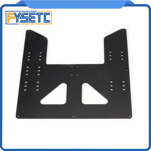 Black Upgrade Y Carriage Anodized Aluminum Plate For A8 Hotbed Support For Prusa I3 Anet A8 3D Printers