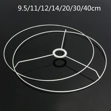 Circular Lampshade Frame Making-Kit-Set Diameter-Lamp Iron DIY E27 12/14/20-/..