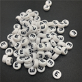 100 шт. 7 мм акриловые бусины с буквами E, разделенные бусины с буквами Овальный алфавит для самостоятельного изготовления ювелирных изделий, ...