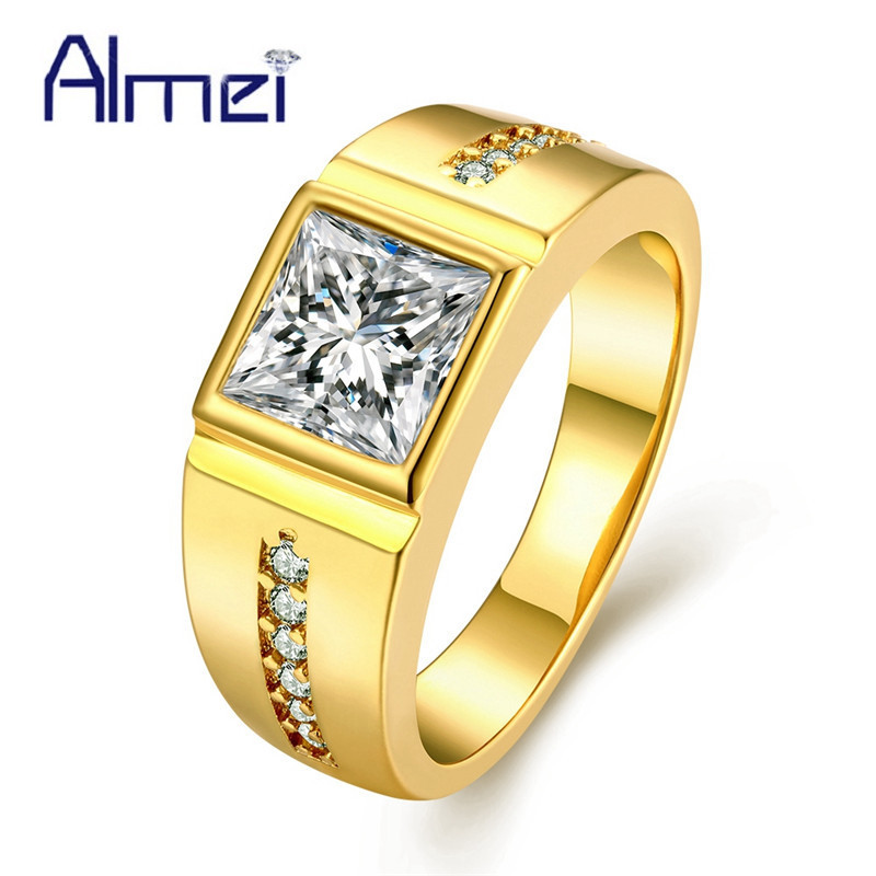ᗚ15 Off Wedding Ring Crystal Rings For Women Men Male Punk Anillos