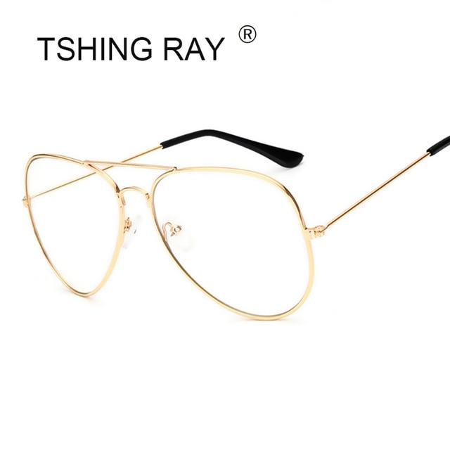 84a21bddf8bf TSHING RAY Women Clear Glasses Frame For Female Ocean Transparent Aviation  Sunglasses Fashion Brand Designer Men