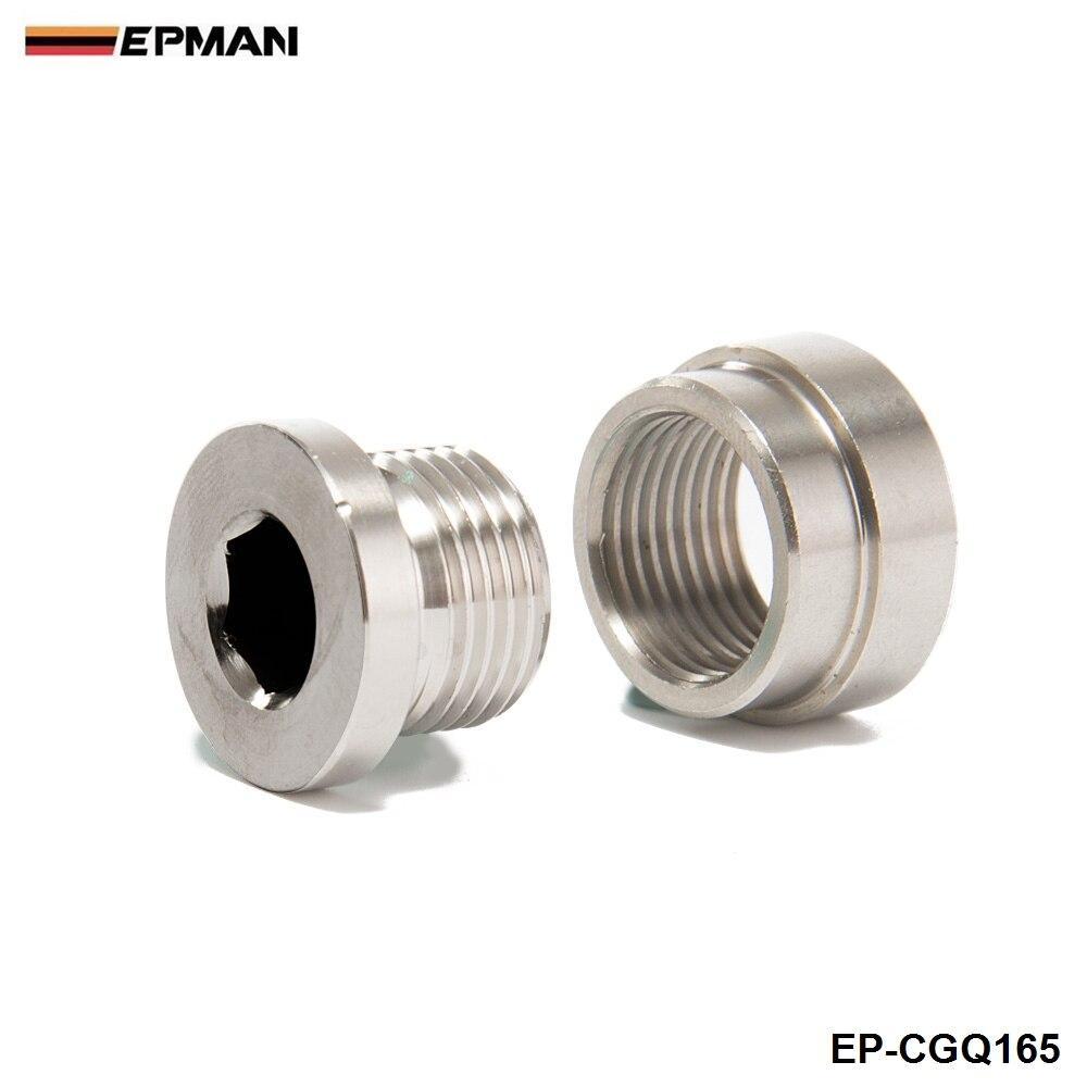 Universal o2 sensor pisou chefe de montagem (1 bungs/1 plugues) m18x1.5 se encaixa para carros americanos EP-CGQ165