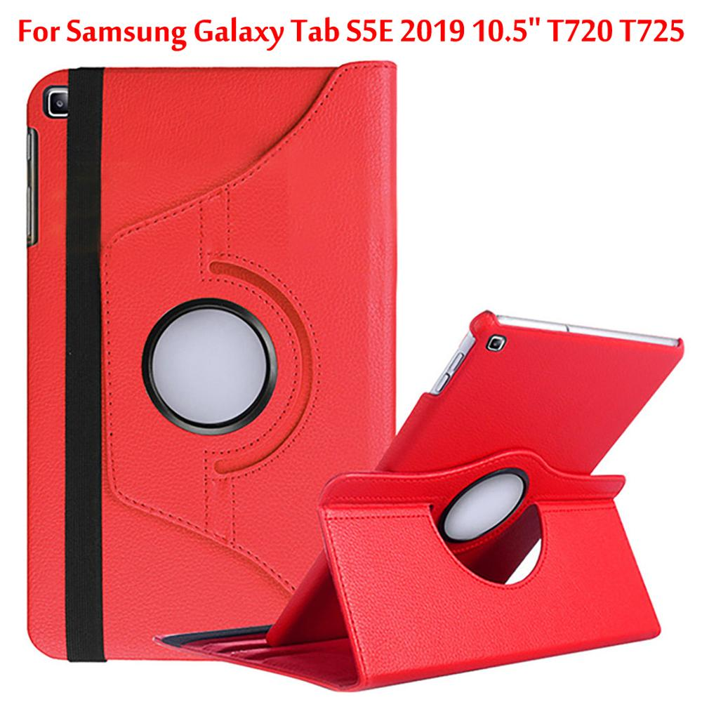 360 Rotating <font><b>Case</b></font> For Samsung Galaxy Tab S5E 2019 <font><b>Case</b></font> 10.5'' <font><b>T720</b></font> T725 / SM-<font><b>T720</b></font> / SM-T725 Stand PU Leather Cover image