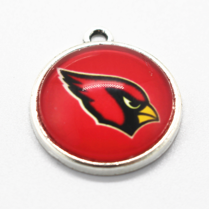 Hot selling 10pcs/lot Arizona Cardinals Dangle Charms American Football Sports Charms Diy Jewelry Accessory Hanging Charms