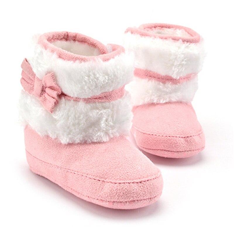 2019 New Warm Hand-made Prewalker Boots Toddler Girl Boy Anti-silp Prewalker Fleece Boot Wool Snow Crib Shoes Winter Booties