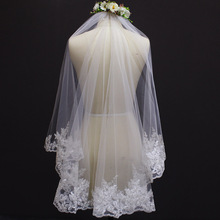New Lace Edge One Layer Wedding Veil With Comb Voile Mariage Short Lace Bridal Veil For wedding Dress