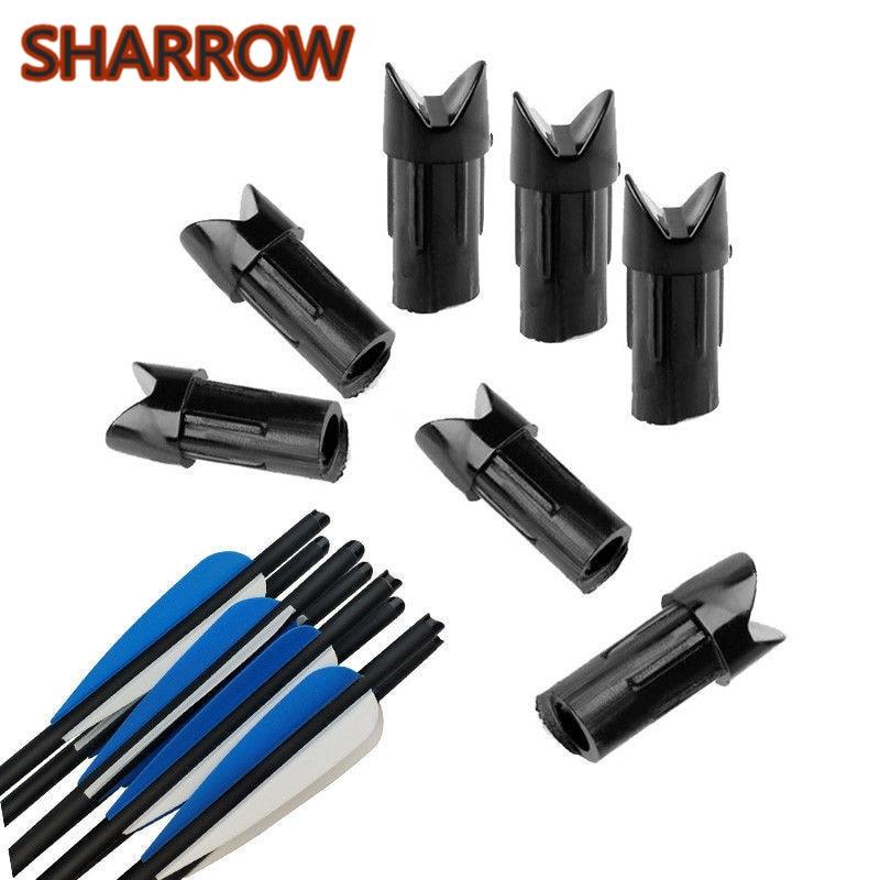 12//50pcs Archery Crossbow Half Moon Arrow Nocks for ID 7.6mm Arrows Bow Hunting