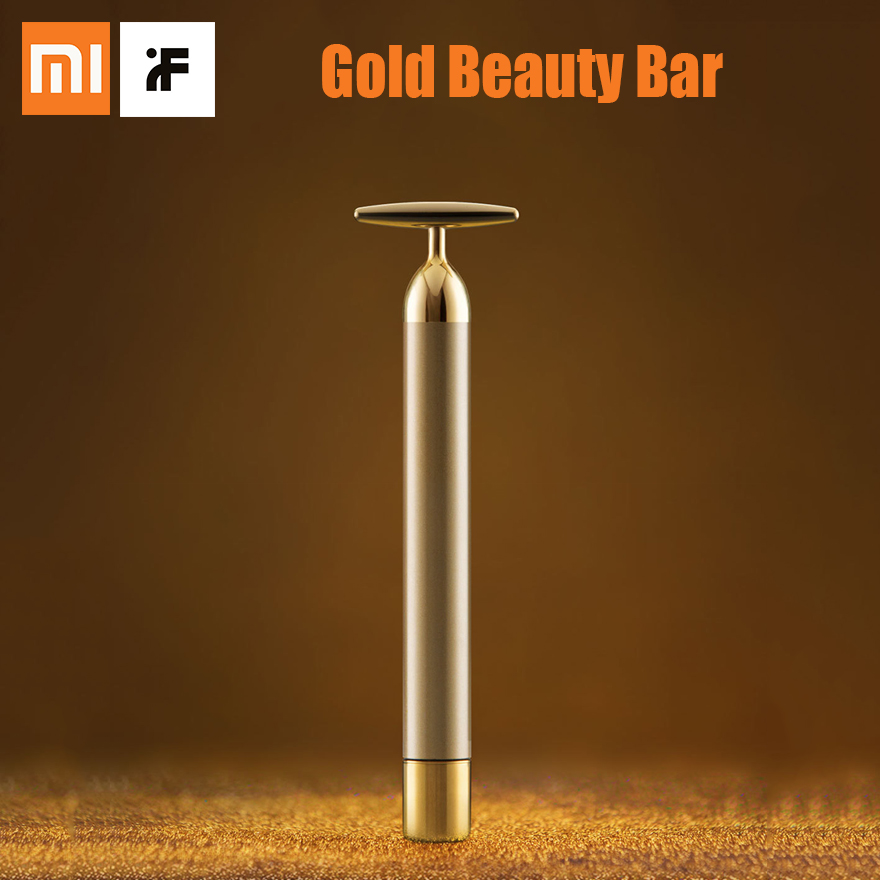 Xiaomi inFace Gold Beauty Bar Gold-Plated Massage Head Face-lifting Speed Up Metabolism SPA Portable Improve Edema Beauty Bar