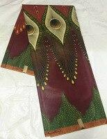 (6 meter/stuk) BCW127, fabriek prijs JAVA wax stof, gratis verzending Afrikaanse JAVA wax gedrukt stof voor trouwjurk