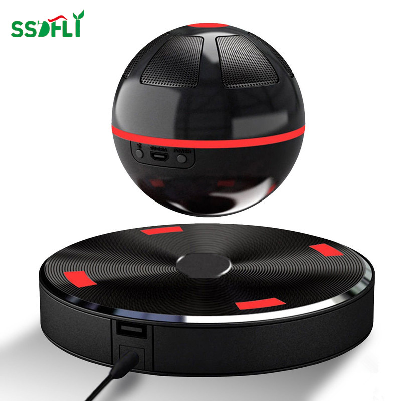 Ssfly Mode High-end Gift Wireless Magnetic Levitation Bluetooth Speaker Subwoofer NFC Stereo Home Touch Button and Led Speaker portable magnetic floating speaker wireless stereo rotating 360 degree speakers magnetic levitation wireless bluetooth speaker