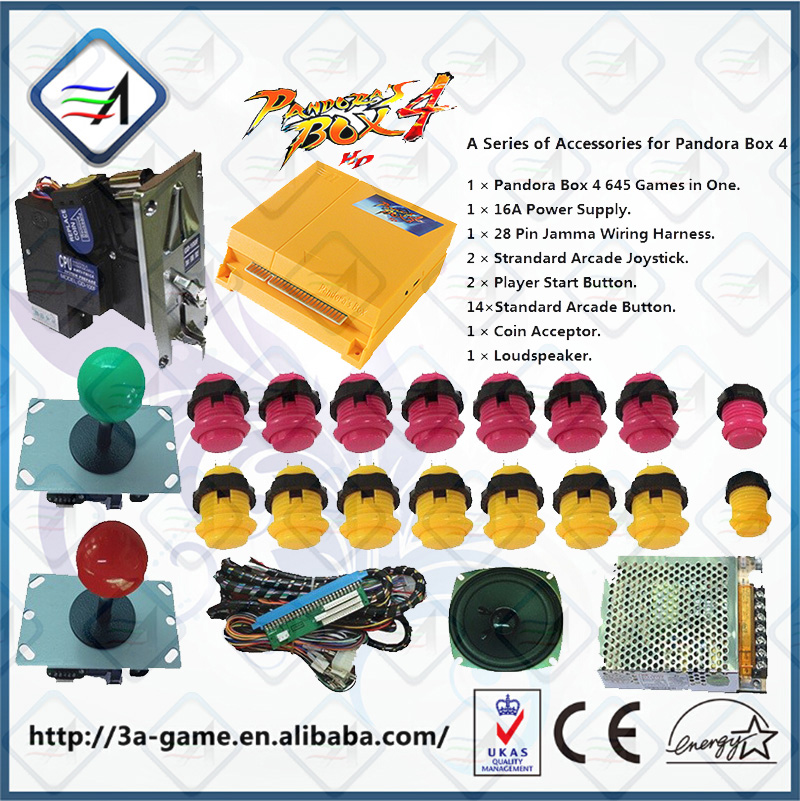 Pandora Box 4 HD Game 645 in 1 Jamma Multi PCB Game Board DIY Accessories Arcade Parts Joystick Buttons Kitsfor Arcade Machine e27 smart rgb white 10w led wifi bulb wireless remote controller led light lamp dimmmable bulbs for ios android