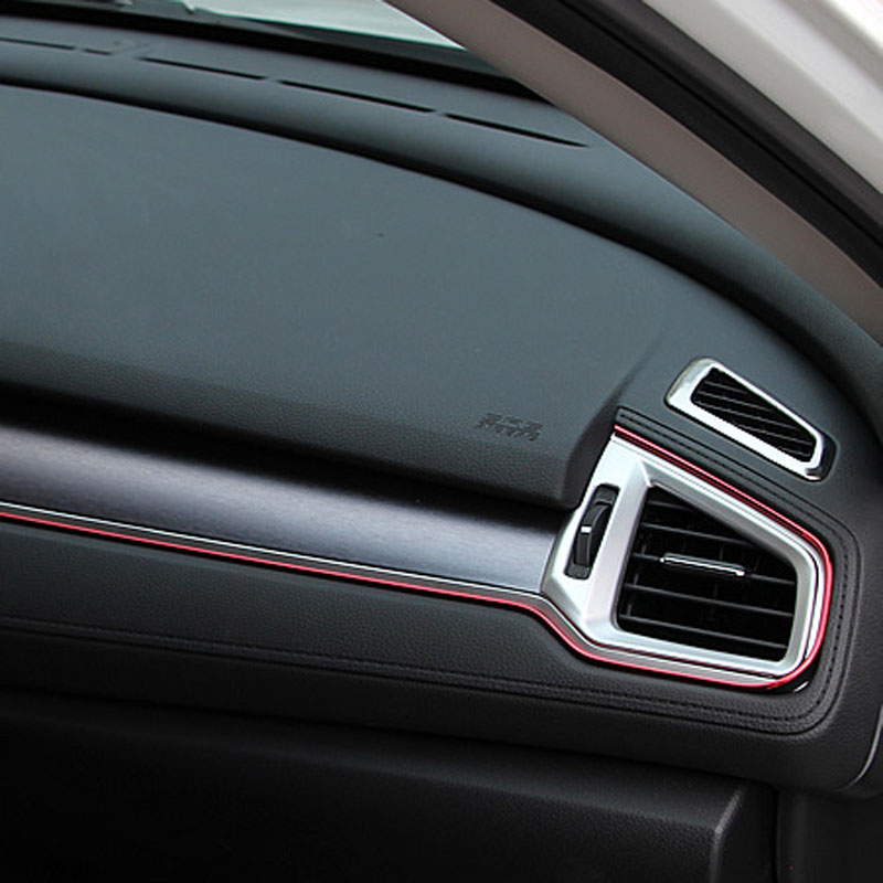 Alijunda 5 M Auto Grille Inner Outer Profielen Trim Decoratieve Lint Lijn Voor Peugeot 206 207 208 301 307 308 407 2008 3008 4008 Aantrekkelijke Mode