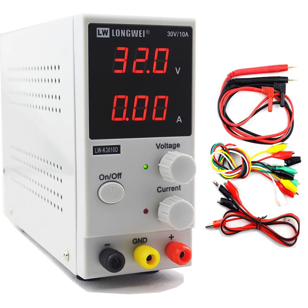 30v 10a K3010D мини импульсный источник Регулируемый DC Питание SMPS одноканальный блок питания 30В 5A переменной 110V или 220V-in импульсный источник питания from Товары для дома