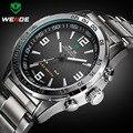 2016 Новые Часы Мужчины Luxury Brand Weide Полный Стали Кварцевые Часы Светодиодный Цифровой Военные Часы Спорт Наручные Часы Relogio Masculino