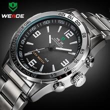 2016 Nuevos Relojes de Marca de Lujo Weide Completa de Acero Reloj de Cuarzo Reloj Militar Led Digital Reloj Deportivo Relogio masculino