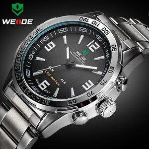 Image 1 - New Watches Men Luxury Brand Weide Full Steel Quartz Clock Led Digital Military  Watch Sport Wristwatch Relogio Masculino