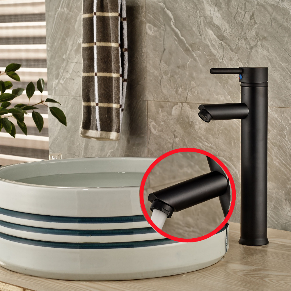 Tall Style Single Handle Hole Bathroom Basin Faucet Vanity Sink Mixer Tap Brass oil rubbed bronze free shipping bathroom basin faucet with single handle single hole antique brass oil rubbed bronze
