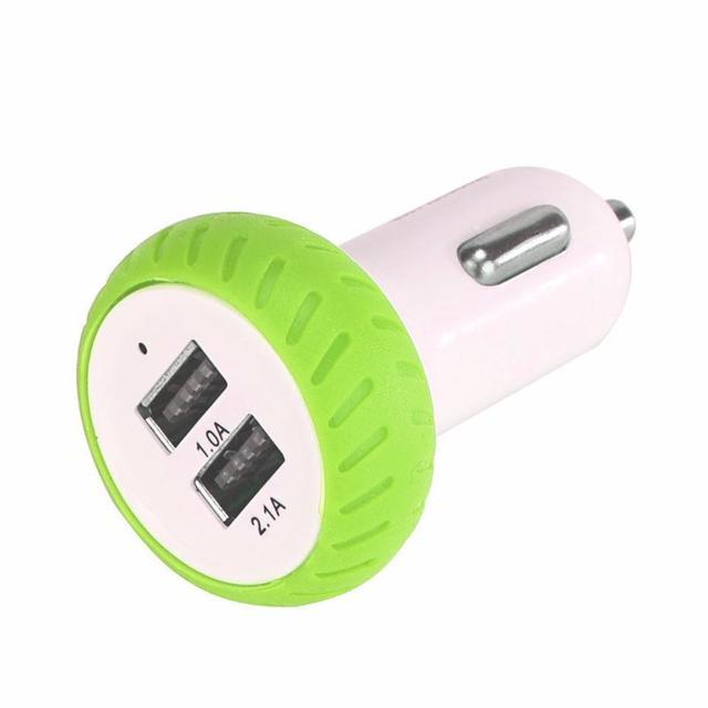 Accesorios para coche Mini Dual 2 puertos 12 V USB Auto en cargador de coche adaptador de carga para teléfono Inteligente Universal para coches