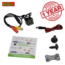 BYNCG WG12 Free Shipping 12LEDs Rear View Camera Waterproof 12 LEDs Night Vision Car CCD Rear View Camera Reverse Camera